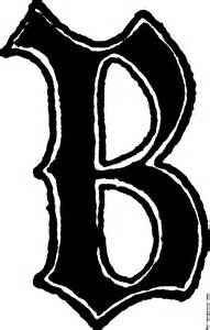 b design calligraphic letter b in 15th century style