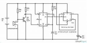 Clap On Clap Off Switch Circuit Diagram Using 555 Timer Ic