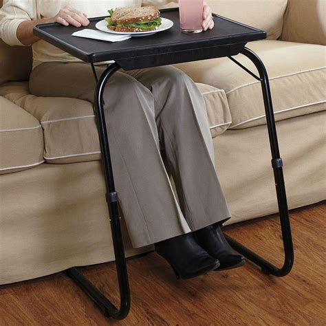 deluxe adjustable height tilt slide under table top tv