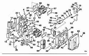 Johnson 1995 80 j115jleor intake manifold parts catalog for Diagram of 1995 j125wtple johnson outboard intake manifold diagram and