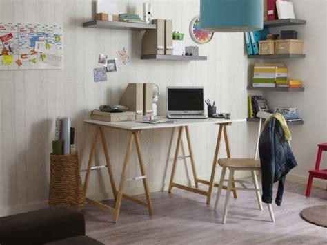 treteaux pour bureau 39 idées déco de tréteaux pour créer une table ou un bureau