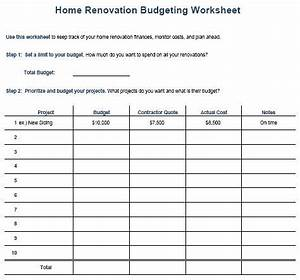 kitchen remodel budget template home renovation With building renovation project plan template