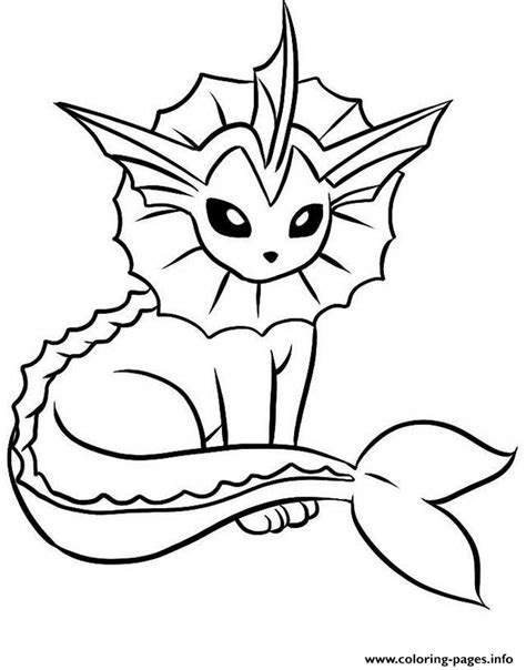 eevee coloring pages vaporeon eevee evolutions coloring pages printable