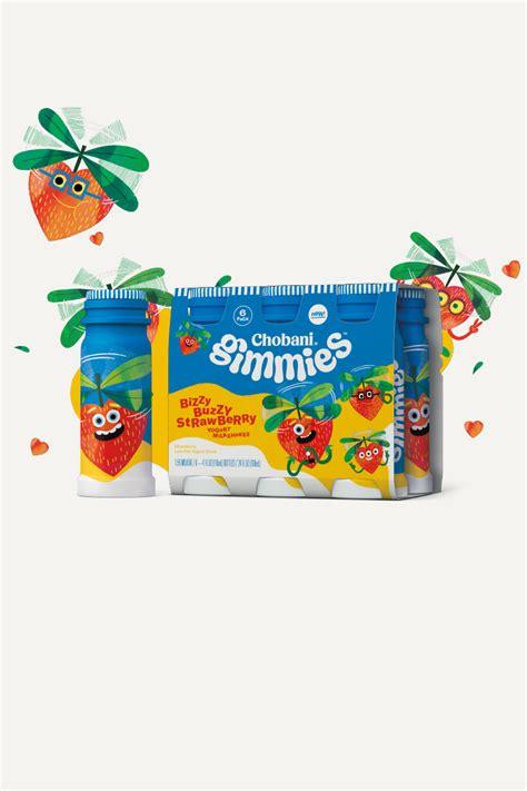 chobani gimmies kids yogurt bizzy buzzy strawberry