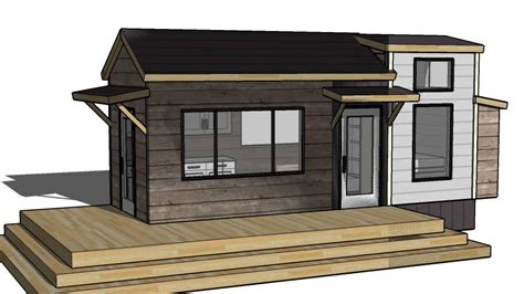 tiny vacation home design floorplan layout  guest bed