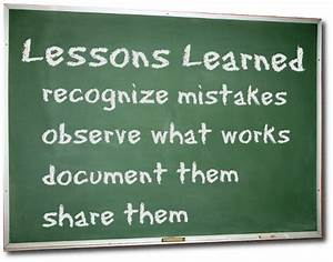 Lessons (Learned) Forgotten…