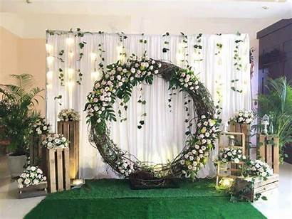 Backdrop Dekorasi Stage Lamaran Decoration Decorations Rustic