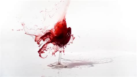 Red Wine Poured In Glass On Table Stock Footage Video