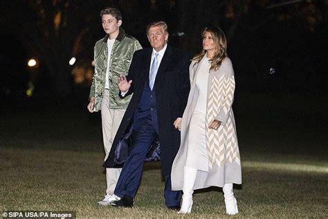 trump barron melania donald dad his year towers bunker marah met balance he lady aman konon putih gedung nuklir sembunyi
