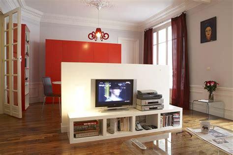 cuisine tele meuble separation cuisine salon un meuble revisit capable