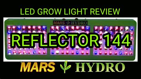 led grow light review mars hydro reflector 144 led grow light review