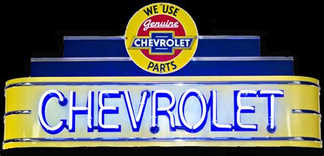Chevrolet Parts Marquee Neon Sign