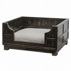 uttermost wood crate pet bed in black bed bath beyond With black wood dog crate