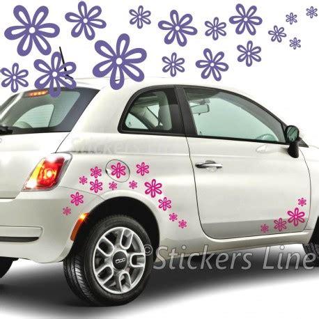 adesivi auto fiori kit adesivi fiori mod 7 68 pezzi smart fiat 500 auto