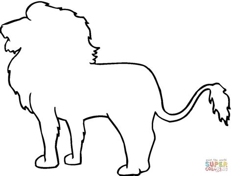 animal outline drawings lion outline coloring