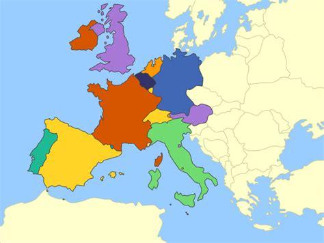 western europe mute political map  fernikart