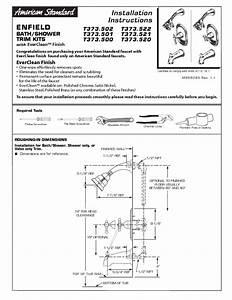 Bath  Shower Trim Kits T373 522 Manuals