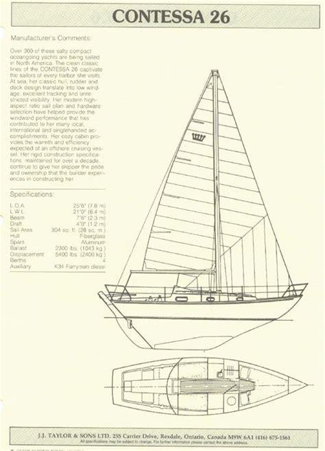 the contessa 26 is a 7 77 meter fiberglass monohull