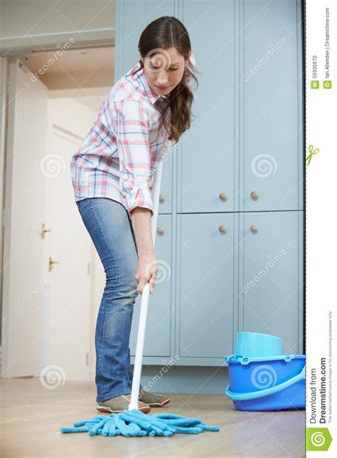 cleaning the kitchen floor cleaning the kitchen floor stock photography 5464