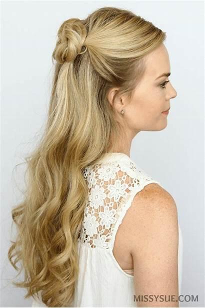 Buns Half Down Double Bun Hair Hairstyles