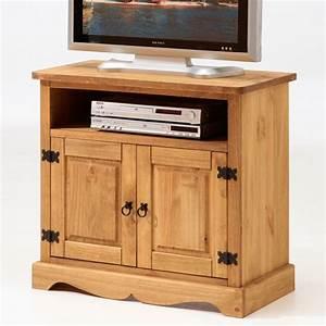 Meuble Tv Bois Pas Cher : meuble tv tequila pin ~ Teatrodelosmanantiales.com Idées de Décoration