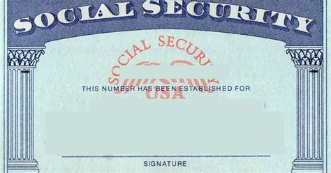 Blank Social Security Card Template  Social Security Card