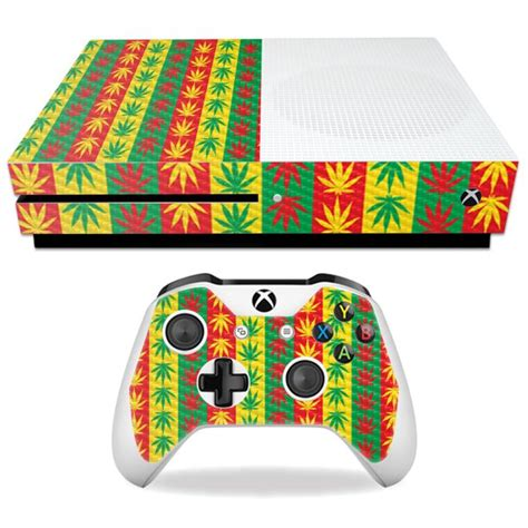Weed Skin For Microsoft Xbox One S Protective Durable