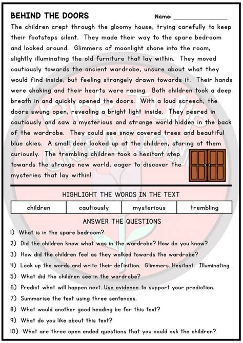 draw conclusions worksheet  grade   reading