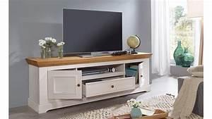 Tv Board Weiß Eiche : lowboard 1 glora tv board kiefer massiv wei gewachst eiche landhaus ~ Buech-reservation.com Haus und Dekorationen