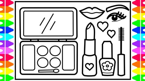 draw  makeup set step  step  kids makeup