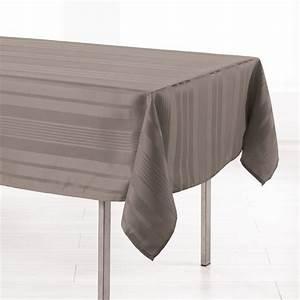 Nappe De Table Rectangulaire : nappe rectangulaire l300 cm smart jacquard taupe nappe de table eminza ~ Teatrodelosmanantiales.com Idées de Décoration