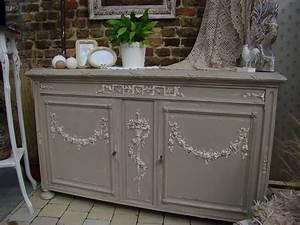 retaper un meuble en bois table en bois peinte en gris With retaper un meuble en bois
