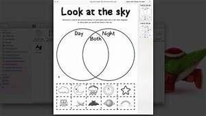 Day And Night Sky Picture Sort  Venn Diagram  By Porter U0026 39 S