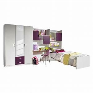 Home 24 Bett : jugendzimmer flow 3 teilig kleiderschrank bett regalwand home24 ~ Frokenaadalensverden.com Haus und Dekorationen