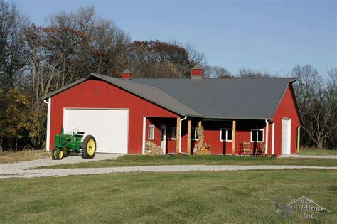 Garage Farm by Iowa Post Frame Buildings Greiner Buildings Inc