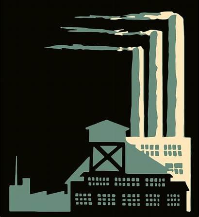 Smokestacks Clipart Vector Factories 1995
