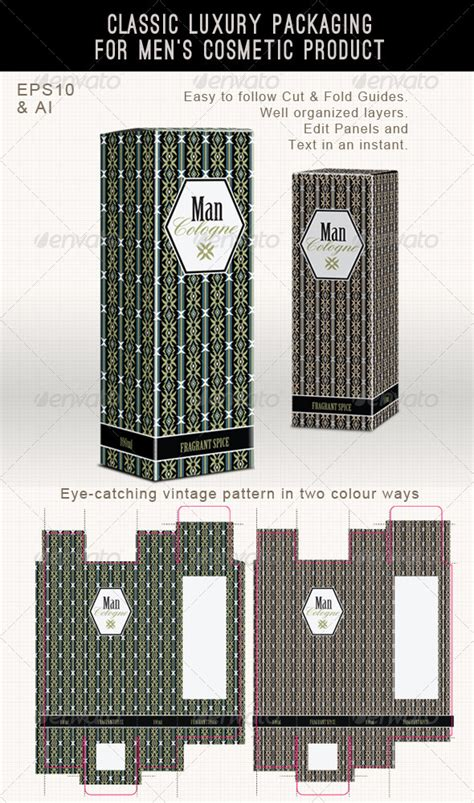 Men's Fragrance Or Cosmetic Box Template By Joiaco