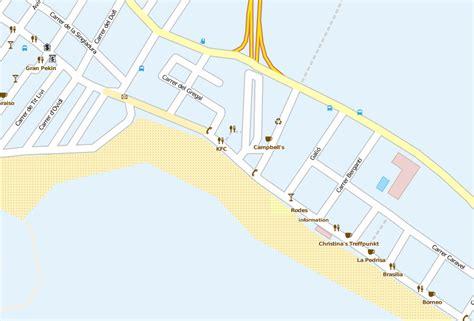 mallorca playa de palma karte kleve landkarte