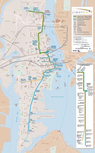 nj light rail map hudson bergen lightrail map port imperial ny usa mappery