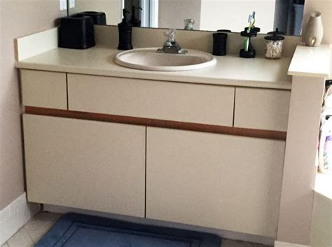 Bathroom Cabinet Makeover by Diy Inexpensive Bathroom Cabinet Makeover Home Decor