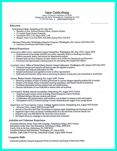 Article On Resumes by The College Resume Template To Get A