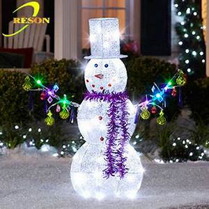 Outdoor Christmas Decoration Metal Snowman Ornament Buy