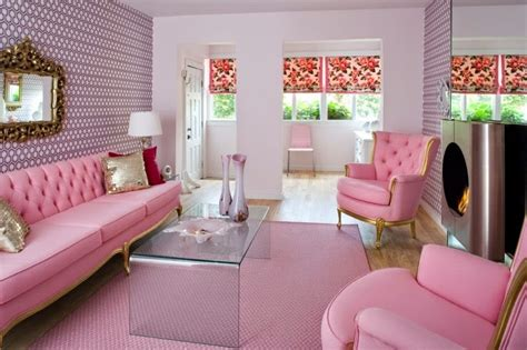 Celebrity Homes Let's Explore Cute Pink Living Room Decor