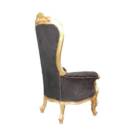fauteuil baroque tr 244 ne noir chaise baroque