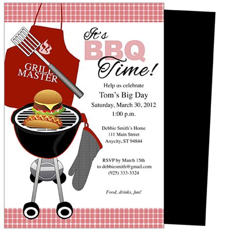 summer bbq invitation word template