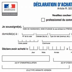 Déclaration D Achat De Véhicule : documents pour changer le titulaire d 39 une carte grise ~ Maxctalentgroup.com Avis de Voitures