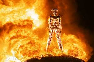 burning man, the burn