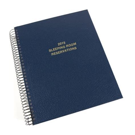 custom hotel reservation book