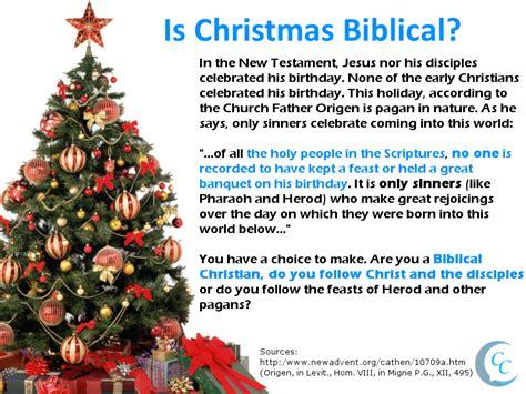 christmas biblical calling christians