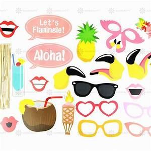 Printable Hawaiian Photo Booth Props Beach Luau Hawaiian